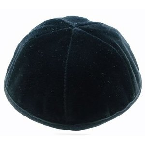 Black Velvet Kippah with a Rim