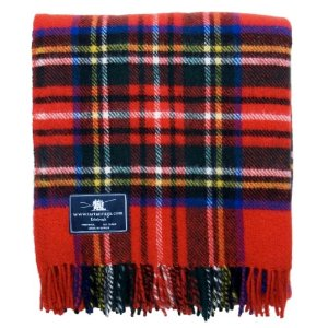 Royal Stewart Tartan Premium Wool Throw