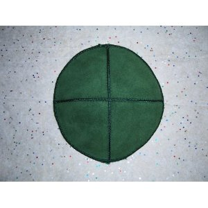 Green Suede Leather Yarmulke