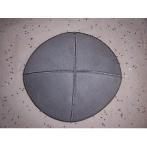 Grey Suede Leather Yarmulke